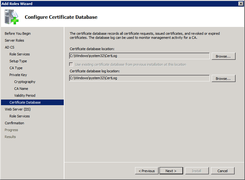 Add Active Directory Certificate Services AD CS Role 10