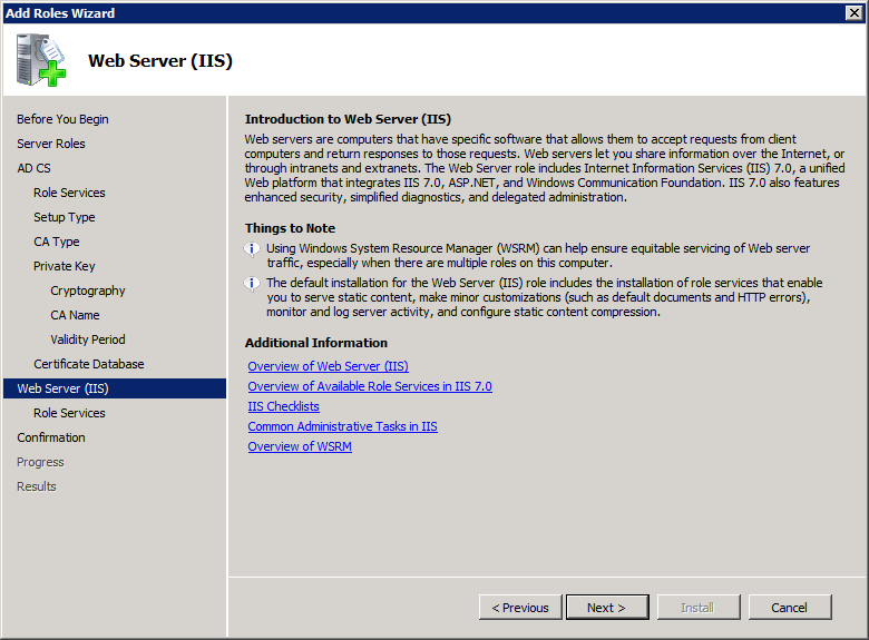 Add Active Directory Certificate Services AD CS Role 11