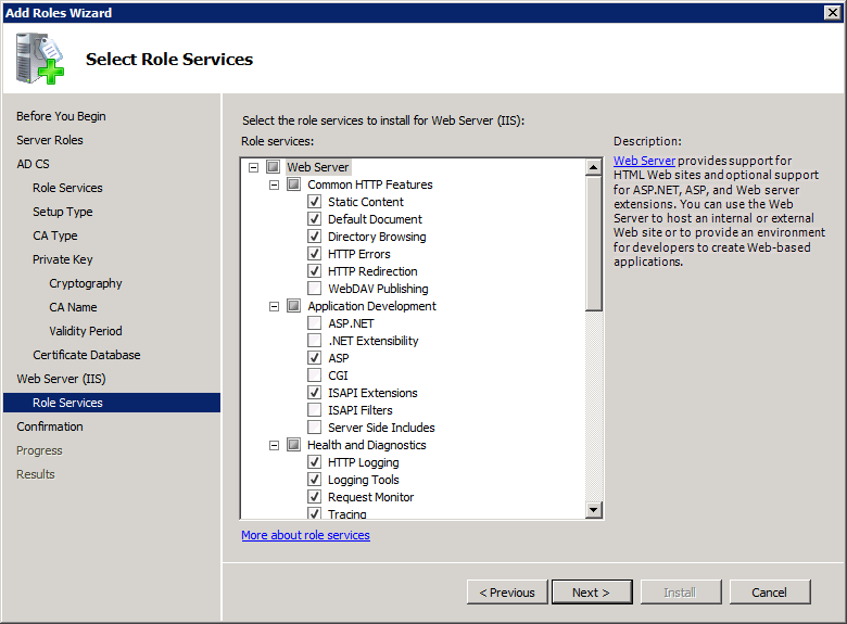 Add Active Directory Certificate Services AD CS Role 12