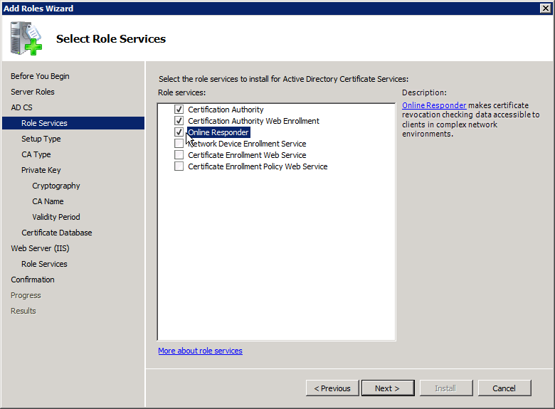 Add Active Directory Certificate Services AD CS Role 3