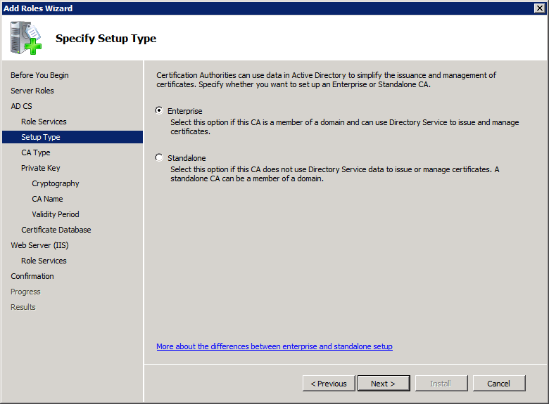 Add Active Directory Certificate Services AD CS Role 4