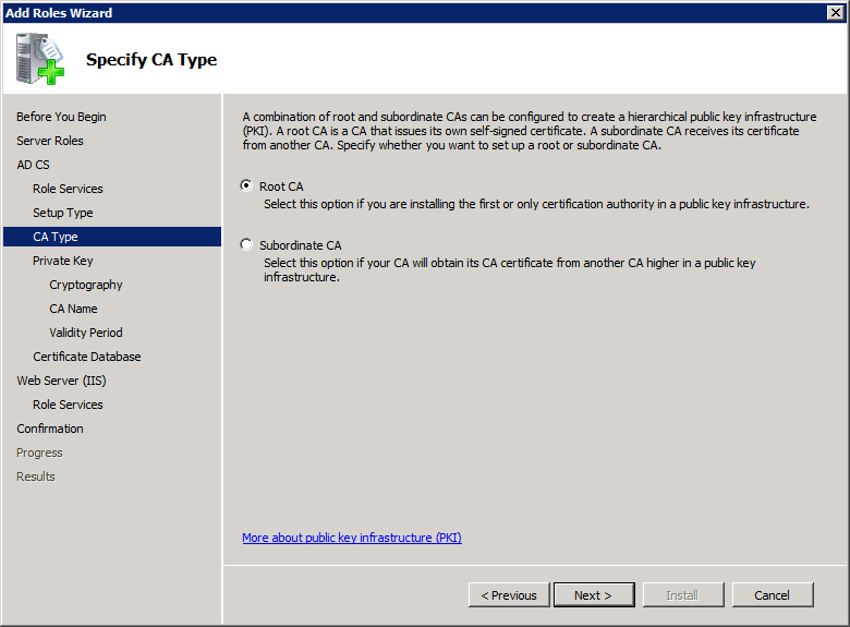Add Active Directory Certificate Services AD CS Role 5