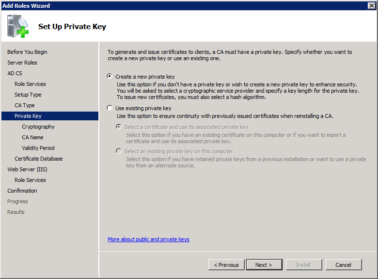 Add Active Directory Certificate Services AD CS Role 6