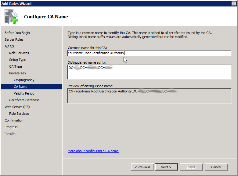 Add Active Directory Certificate Services AD CS Role 8