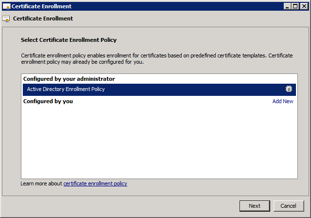 Certificate Enrollment Request 2