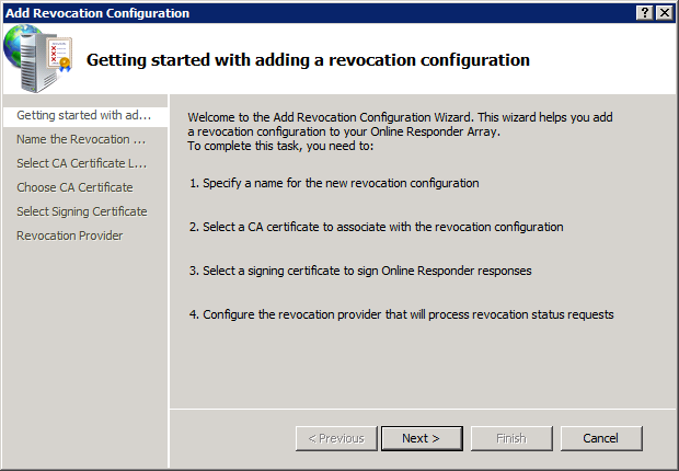 OCSP - Add Revocation Configuration 1