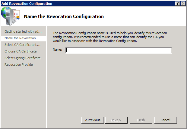 OCSP - Add Revocation Configuration 2