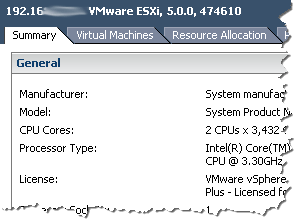 VMware ESXi5 without SSH for the host has been enabled