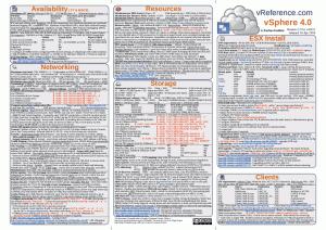 VMware vSphere 4.0 Reference Card