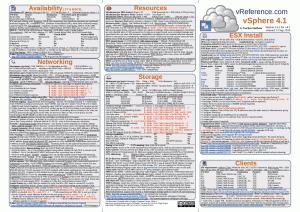 VMware vSphere 4.1 Reference Card